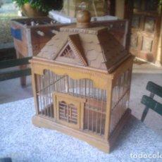 antigua jaula en madera representando un castillo 1900 preciosa y en perfecto estado