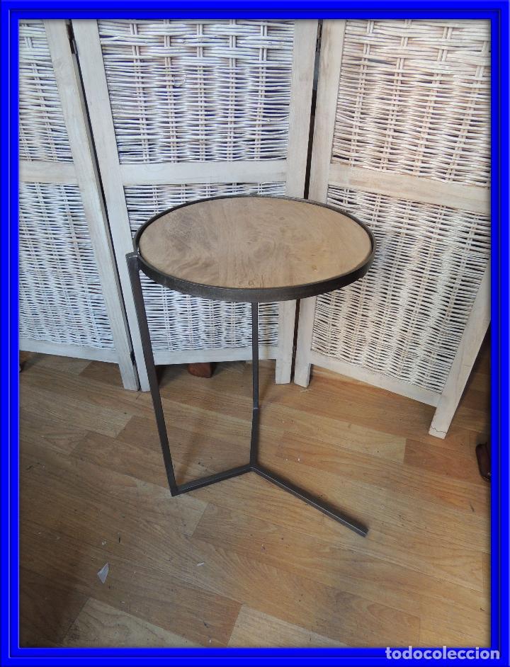 Mesa auxiliar de hierro y madera para sofa comprar mesas antiguas en todocoleccion 92489785 - Mesa auxiliar sofa ...