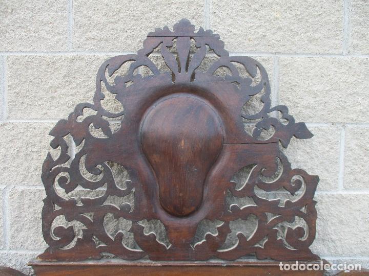 Antigüedades: Pareja de Cabezales de Cama - Isabelinos - Cabezal - Madera de Nogal - Bonitas Taraceas - S. XIX - Foto 5 - 136660630