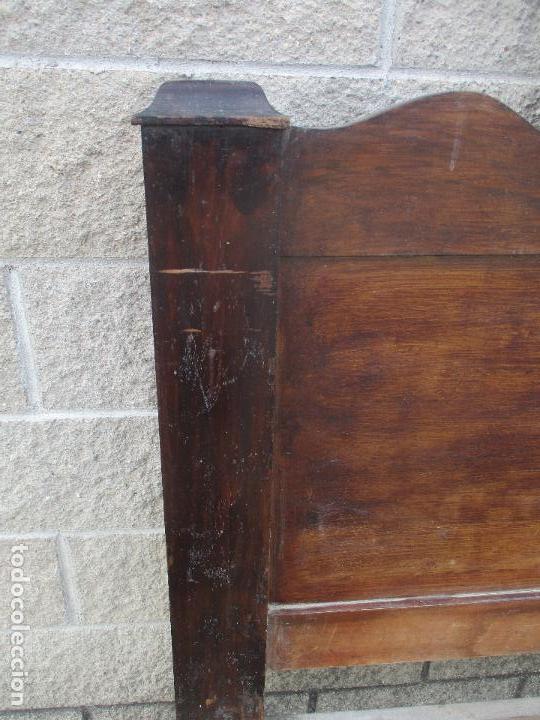 Antigüedades: Pareja de Cabezales de Cama - Isabelinos - Cabezal - Madera de Nogal - Bonitas Taraceas - S. XIX - Foto 27 - 136660630
