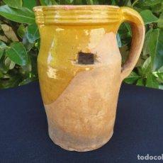 Antigüedades: ALFARERÍA LEVANTINA: MEDIDA PARA VINO DE TRAIGUERA. Lote 92688335