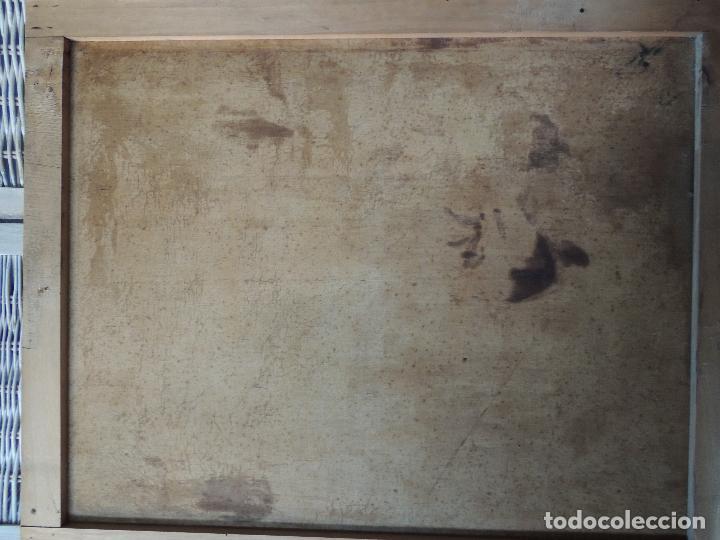Antigüedades: PRECIOSO TRUMEAU ANTIGUO OLEO SOBRE LIENZO MARCO ORO FINO - Foto 8 - 92717015