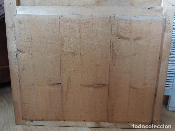 Antigüedades: PRECIOSO TRUMEAU ANTIGUO OLEO SOBRE LIENZO MARCO ORO FINO - Foto 9 - 92717015