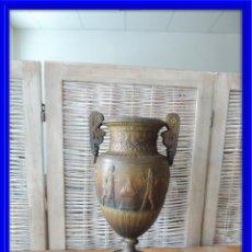 Antigüedades: COPA CLASICA ANTIGUA DE CALAMINA CON BASE DE MARMOL S. XIX. Lote 92717500
