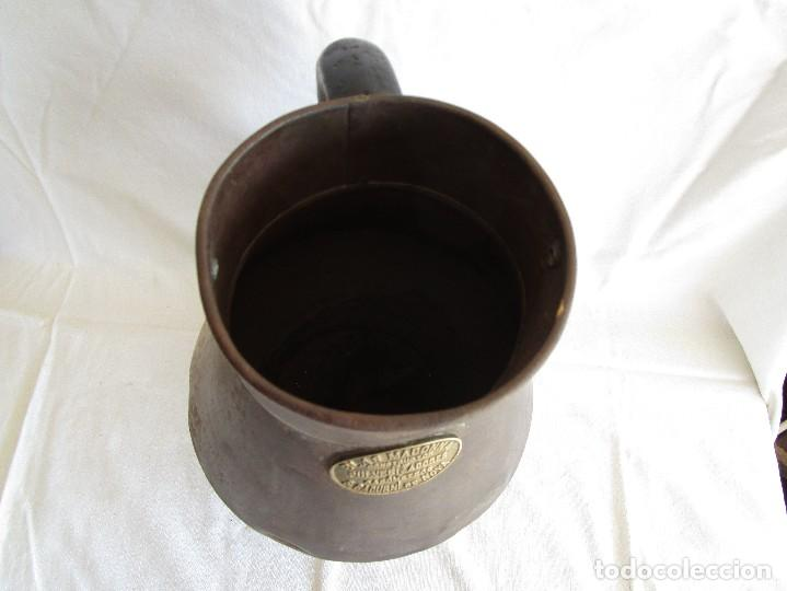 Antigüedades: antiguo recipiente medida blas madonna sant sadurni de noya - Foto 7 - 92720610