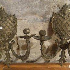 Antigüedades: PAREJA CANDELABROS . Lote 92777735