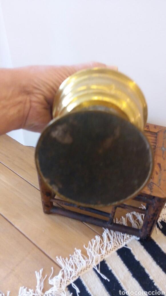 Antigüedades: Antiguo quinqué de Latón - Foto 3 - 92780174