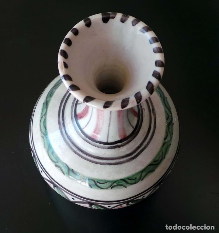 Antigüedades: JARRÓN CERÁMICA TALAVERA 21,5 CM DE ALTO - Foto 5 - 92806515