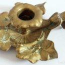 Antigüedades: ANTIGUO CANDELABRO EN BRONCE O LATON . Lote 92814505