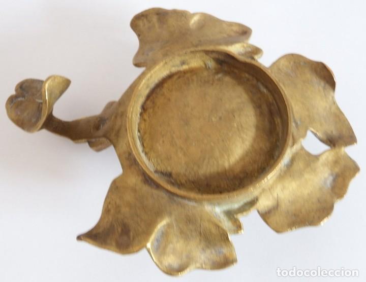Antigüedades: ANTIGUO CANDELABRO EN BRONCE O LATON - Foto 7 - 92814505