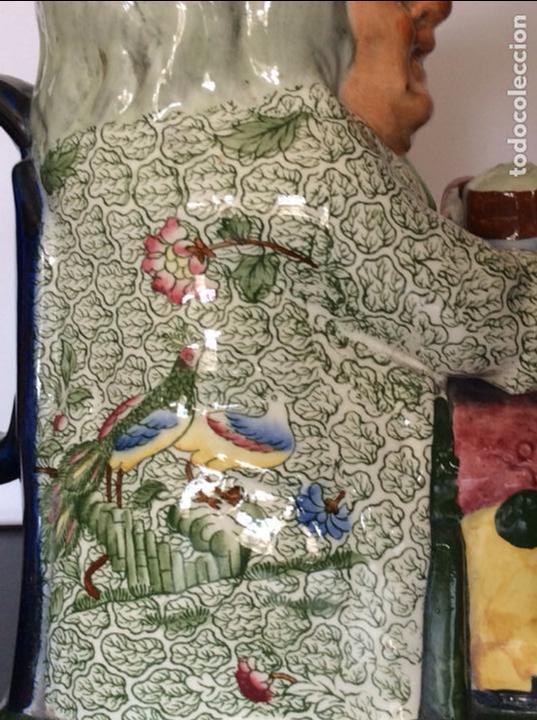 Antigüedades: jarra de cerveza, porcelana inglesa COPELAND sellada y numerada - Foto 2 - 92815575