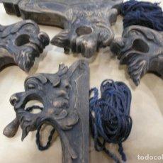 Antigüedades: ESPECTACULAR LOTE CORTINEROS MADERA CORTINA CORTINERO ANTIGUOS. VER FOTOS. Lote 92851865