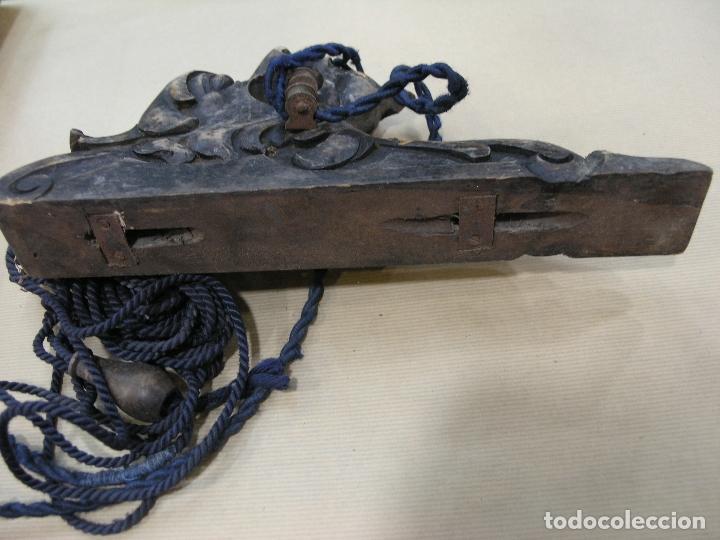 Antigüedades: ESPECTACULAR LOTE CORTINEROS MADERA CORTINA CORTINERO ANTIGUOS. VER FOTOS - Foto 5 - 92851865