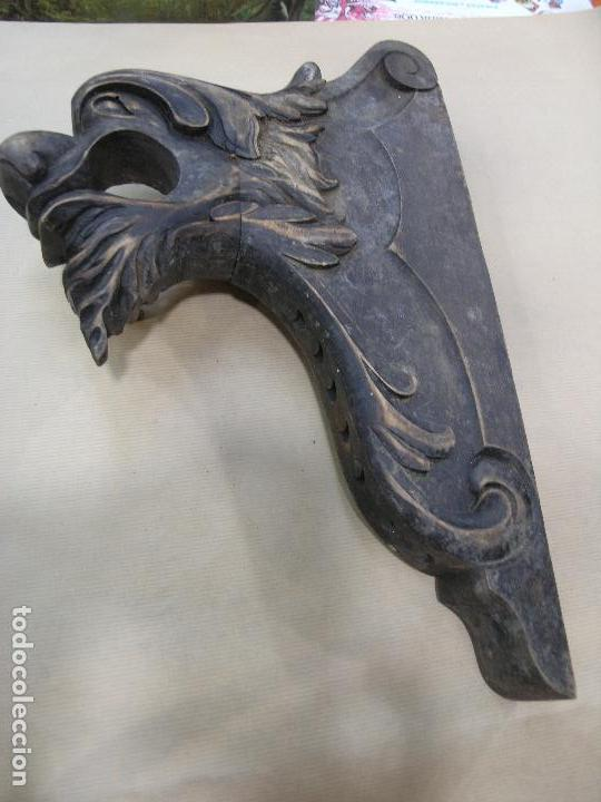 Antigüedades: ESPECTACULAR LOTE CORTINEROS MADERA CORTINA CORTINERO ANTIGUOS. VER FOTOS - Foto 7 - 92851865