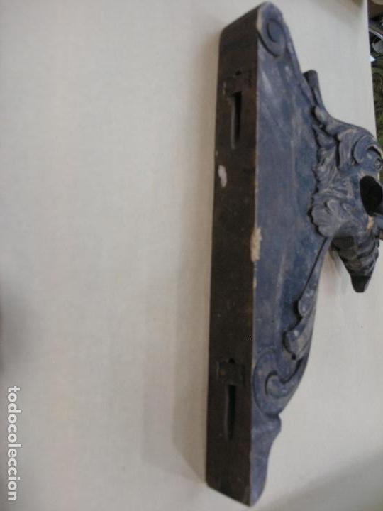 Antigüedades: ESPECTACULAR LOTE CORTINEROS MADERA CORTINA CORTINERO ANTIGUOS. VER FOTOS - Foto 9 - 92851865
