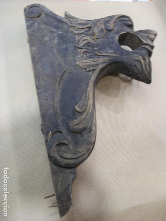 Antigüedades: ESPECTACULAR LOTE CORTINEROS MADERA CORTINA CORTINERO ANTIGUOS. VER FOTOS - Foto 14 - 92851865