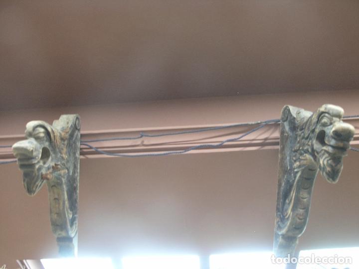 Antigüedades: ESPECTACULAR LOTE CORTINEROS MADERA CORTINA CORTINERO ANTIGUOS. VER FOTOS - Foto 18 - 92851865