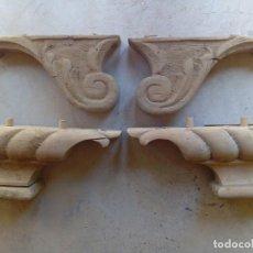 Antigüedades: LOTE DE 2 PAREJAS DE PATAS PARA MUEBLE EN MADERA. Lote 92856440