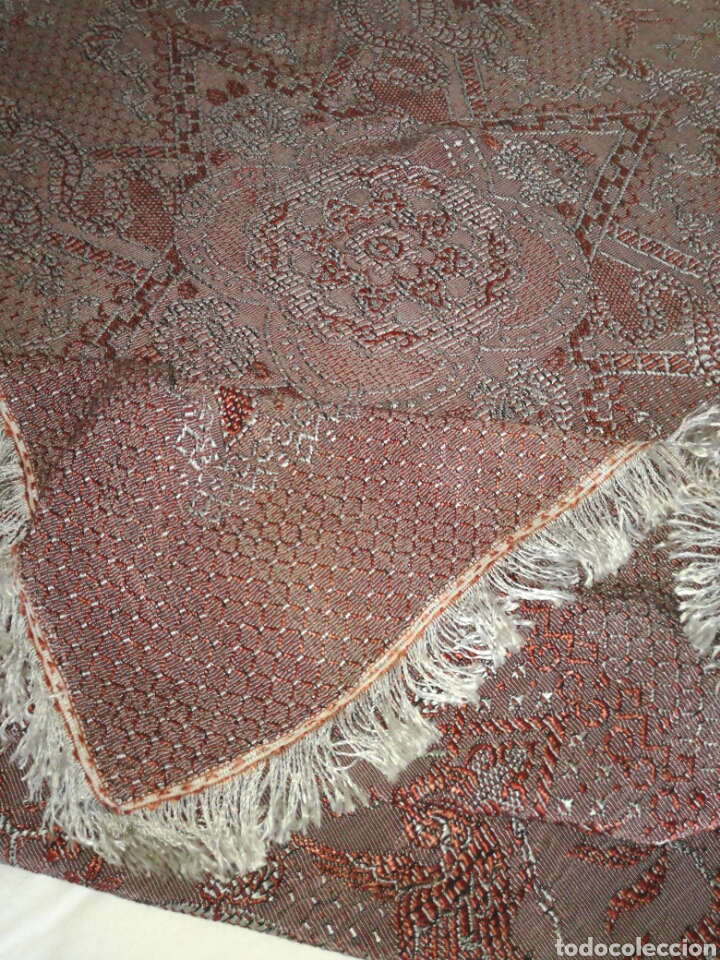 Antigüedades: Antigua colcha de sedina recia - Foto 4 - 92867800