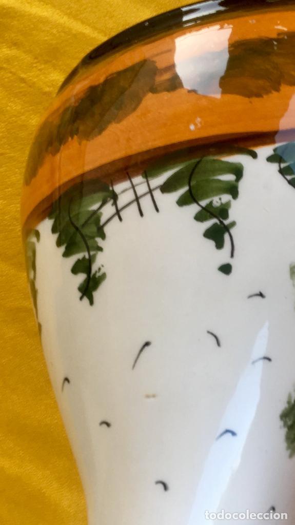 Antigüedades: Botijo loza ceramica valencia manises pintado a mano paisaje barraca forma gallina 1960 - Foto 27 - 92873930