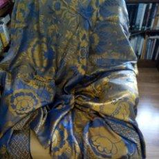 Antigüedades: * ANTIGUA COLCHA DE SEDINA DE DOBLE CARA. Lote 108250666
