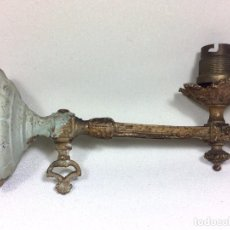 Antigüedades: ANTIGUO APLIQUE DE GAS DE FINALES DEL S.XIX - REALIZADO EN BRONCE. Lote 92913170