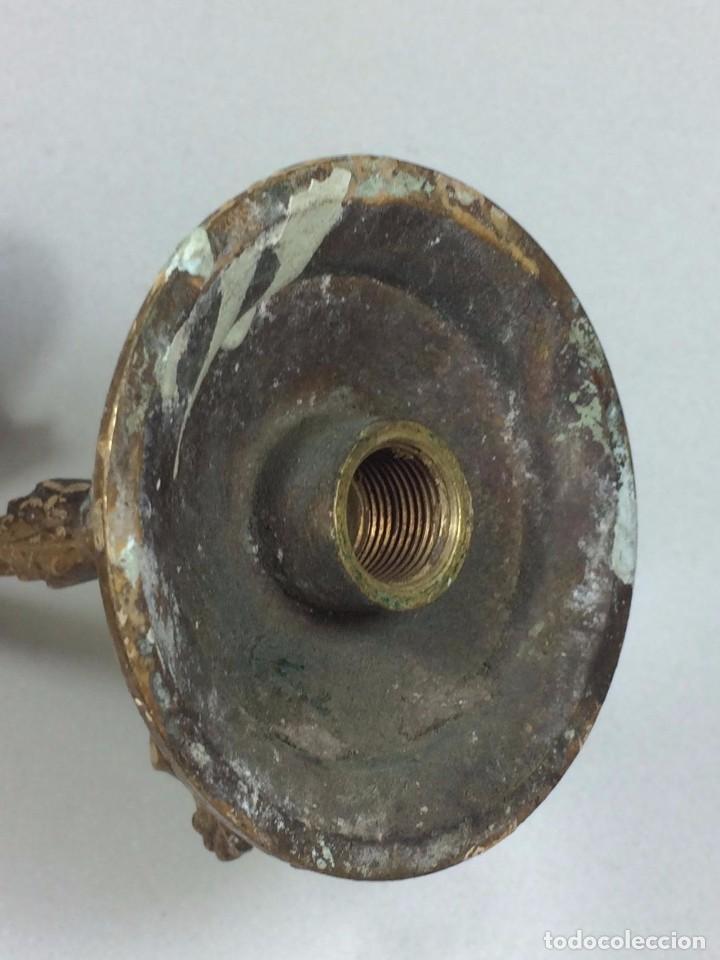 Antigüedades: Antiguo Aplique de Gas de Finales del s.XIX - Realizado en Bronce - Foto 4 - 92913170