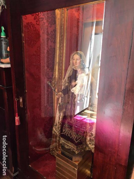 Antigüedades: ANTIGUO ARMARIO TRANSFORMADO EN CAPILLA HORNACINA - VIRGEN - CRISTO - SEMANA SANTA - RELIGIOSO - Foto 4 - 92914525