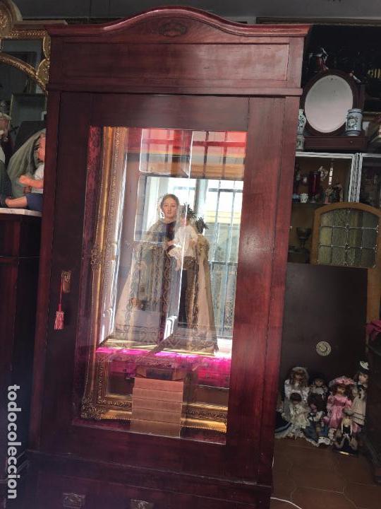 Antigüedades: ANTIGUO ARMARIO TRANSFORMADO EN CAPILLA HORNACINA - VIRGEN - CRISTO - SEMANA SANTA - RELIGIOSO - Foto 7 - 92914525