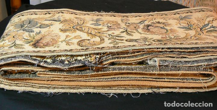 Antigüedades: ANTIGUA CENEFA GALON DE TAPIZ- TAPICERIA - Foto 2 - 92926905
