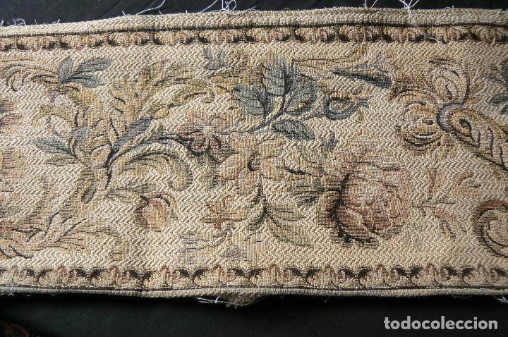 Antigüedades: ANTIGUA CENEFA GALON DE TAPIZ- TAPICERIA - Foto 4 - 92926905