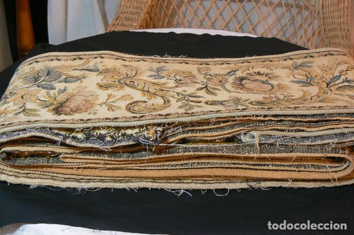 Antigüedades: ANTIGUA CENEFA GALON DE TAPIZ- TAPICERIA - Foto 6 - 92926905