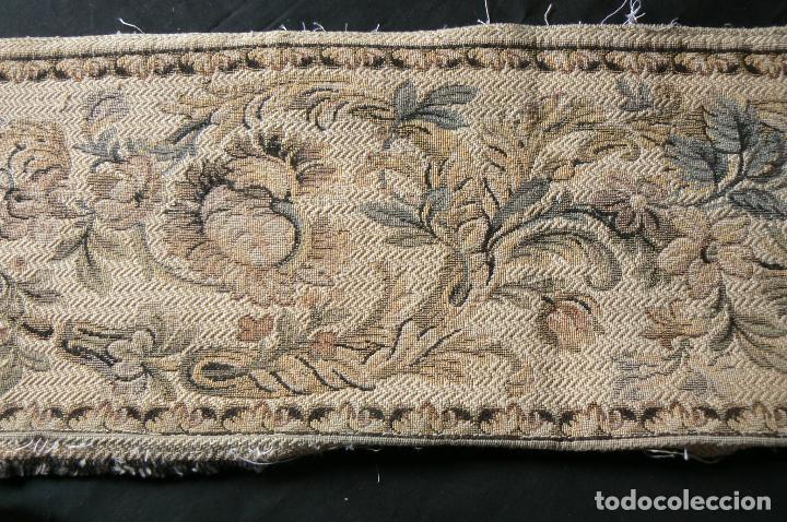 Antigüedades: ANTIGUA CENEFA GALON DE TAPIZ- TAPICERIA - Foto 7 - 92926905