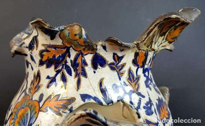 Antigüedades: PAREJA DE JARRONES. CERÁMICA CATALANA ESMALTADA. SIGLO XIX-XX. - Foto 4 - 92967090