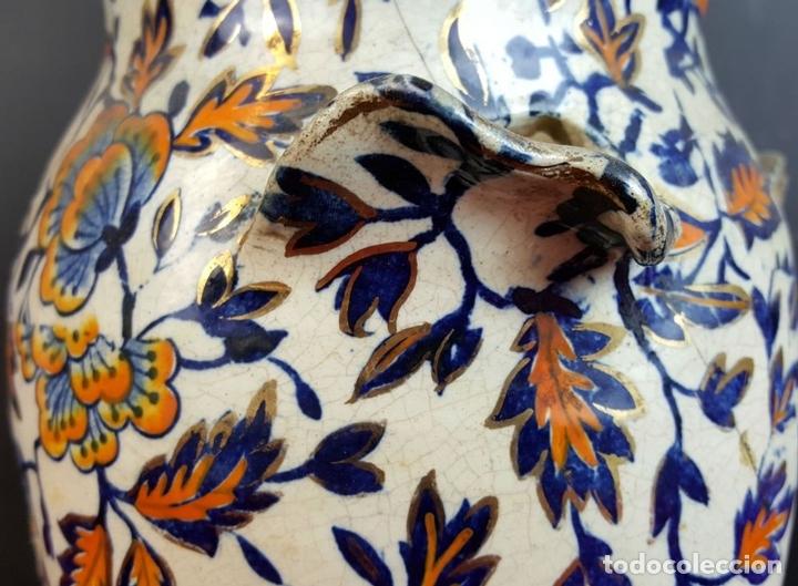 Antigüedades: PAREJA DE JARRONES. CERÁMICA CATALANA ESMALTADA. SIGLO XIX-XX. - Foto 5 - 92967090