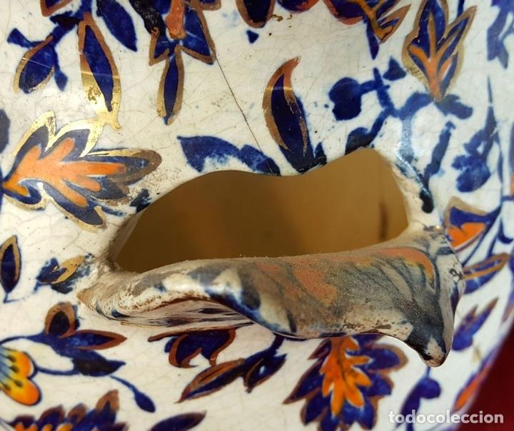 Antigüedades: PAREJA DE JARRONES. CERÁMICA CATALANA ESMALTADA. SIGLO XIX-XX. - Foto 9 - 92967090