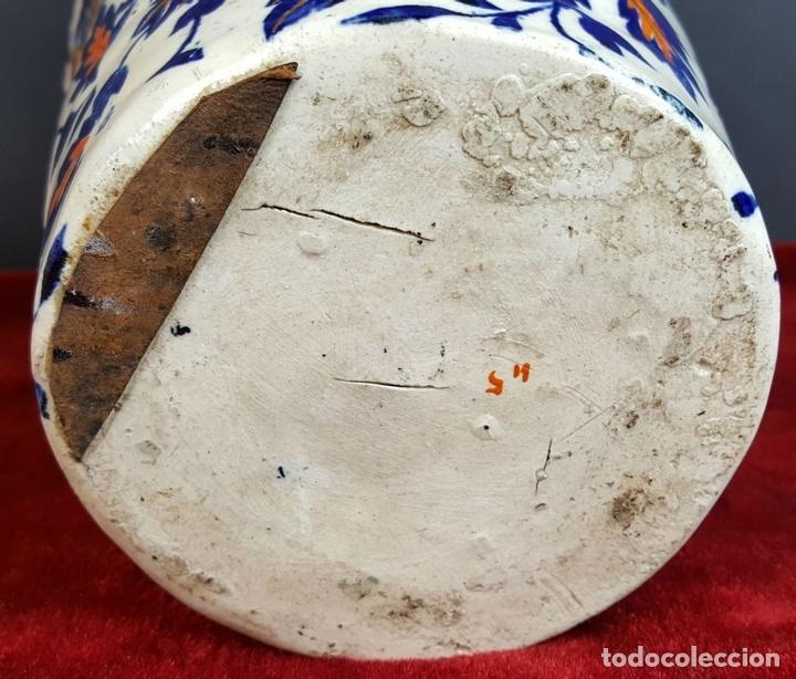 Antigüedades: PAREJA DE JARRONES. CERÁMICA CATALANA ESMALTADA. SIGLO XIX-XX. - Foto 11 - 92967090