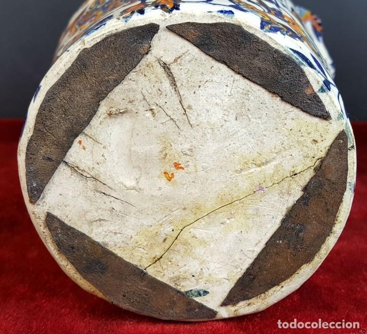 Antigüedades: PAREJA DE JARRONES. CERÁMICA CATALANA ESMALTADA. SIGLO XIX-XX. - Foto 13 - 92967090