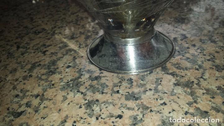 Antigüedades: antiguo centro de mesa en cristal tallado - Foto 3 - 92967665