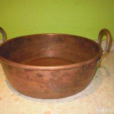 Antigüedades: PEROL COBRE CALDERO 38 CM OLLA ASAS. Lote 92967890