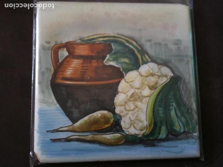 AZULEJO PINTADO A MANO-GAYA-ALCORA (Antigüedades - Porcelanas y Cerámicas - Alcora)