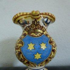 Antigüedades: JARRA DE CERAMICA PINTADA A MANO Y FIRMADA. Lote 93006885