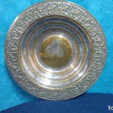 Antigüedades: PANERA BANDEJA REDONDA 29 CMTS. METAL PLATEADO. Lote 93012580