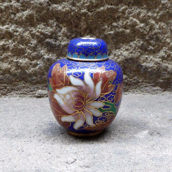 PEQUEÑO TIBOR EN CLOISONNE (Antigüedades - Porcelanas y Cerámicas - China)