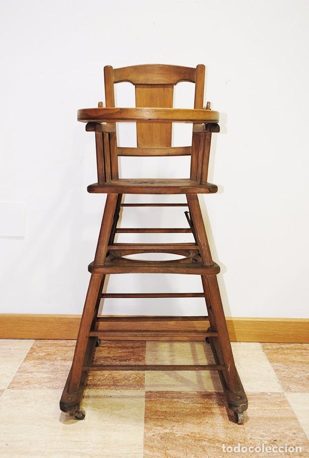 TRONA INFANTIL ANTIGUA DE MADERA (Antigüedades - Muebles Antiguos - Sillas Antiguas)