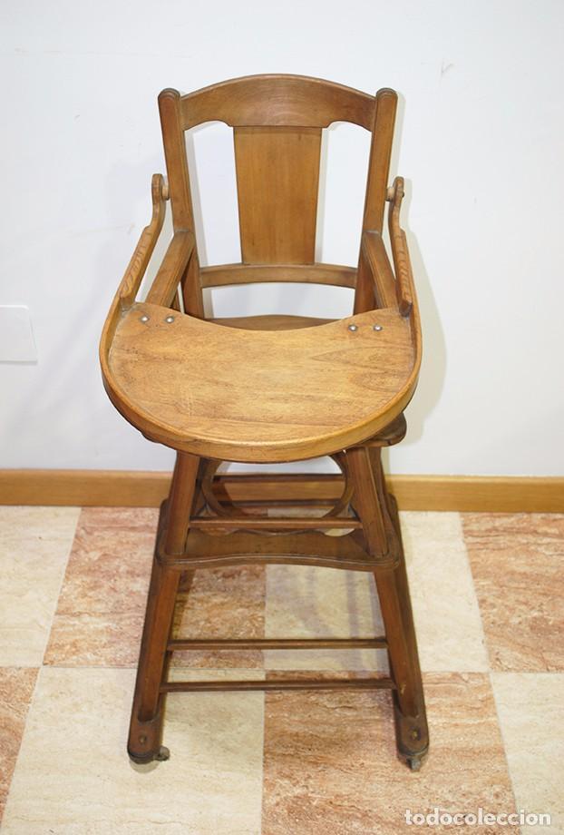 Antigüedades: TRONA INFANTIL ANTIGUA DE MADERA - Foto 2 - 93025470