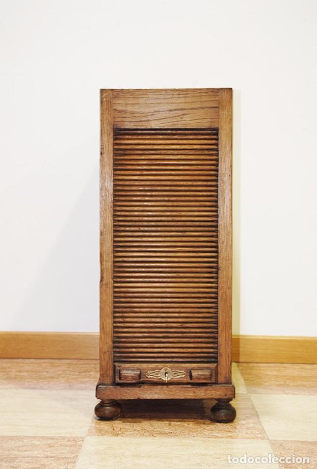 Mueble archivador de persiana antiguo de roble comprar - Persiana para mueble ...