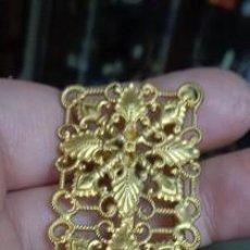 Antiquitäten - HEBILLA METAL LATON LABRADO SIGLO XIX - 8,3 CM X 2,5 CM - 93028510