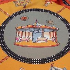 Antigüedades: PAÑUELO MOTIVOS CIRCO, VIVOS COLORES, PERFECTO ESTADO, SIN SEÑALES DE USO. Lote 93032650