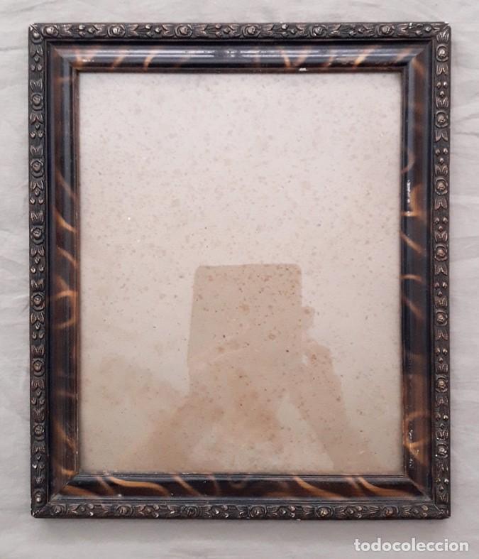 antiguo marco con cristal imitacion a carey - Comprar Marcos ...